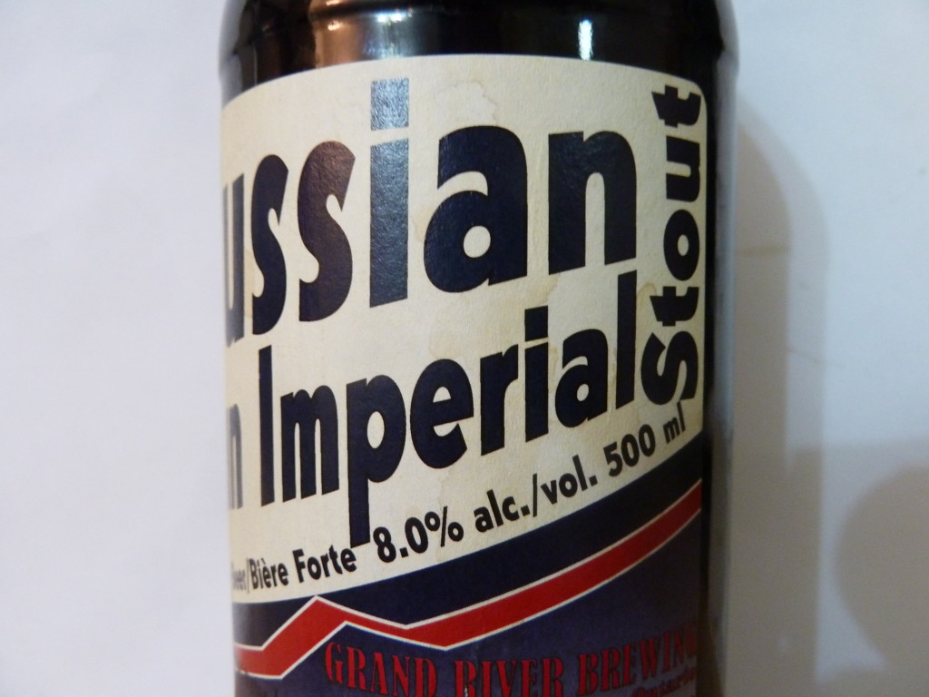 "See? You've got to turn the bottle. Me, I would narrow the thing and put ""Imperial Stout"" in a smaller font, but what do I know? I'm shortsighted and partially colourblind."