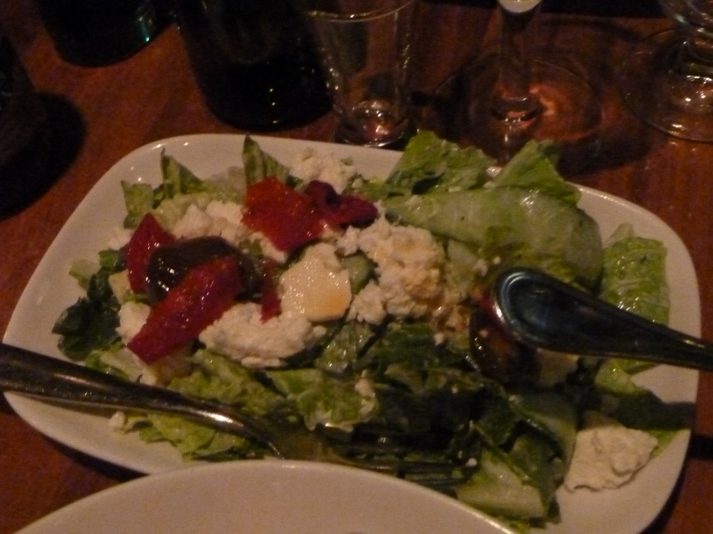 A truly excellent salad, which we, heathens that we are, mostly ignored.