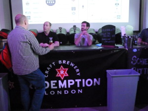 Redemption were one of the few booths offering cask. Nice to see tradition alongside innovation.