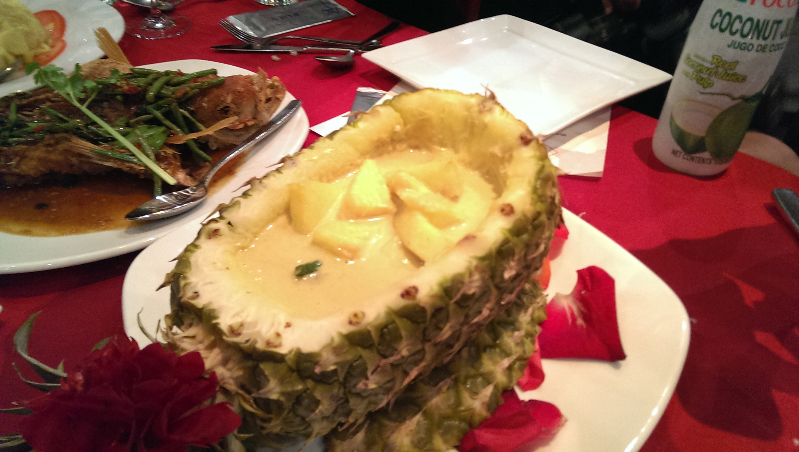 Pineapple tureen. More fragrant than a regular tureen.