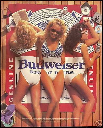 Not only was this acceptable in the 1980's, I knew middle schoolers who had this poster. This is no longer acceptable, even for craft brewers
