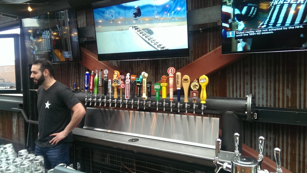 The tap selection leans towards craft, both gateway and trending. As a side note, I should point out that it's hard to take proper advantage of an open bar when your third grade teacher is downstairs.