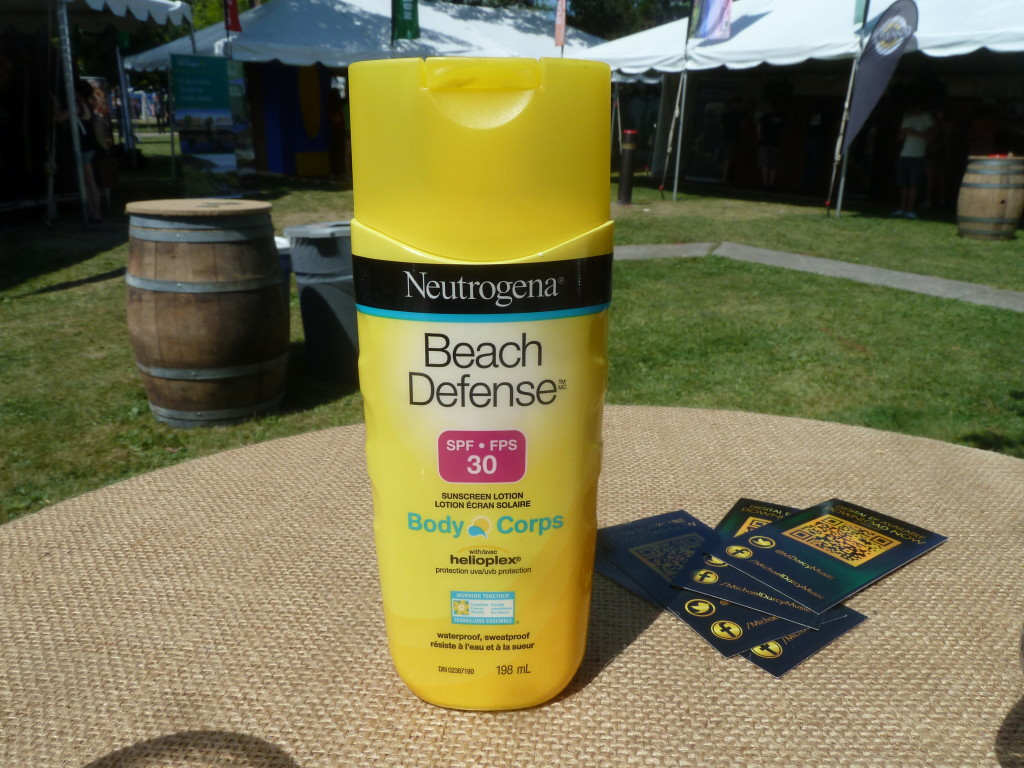 If you're going to host an Irish Pavilion in Toronto in July, you'd do well to leave complimentary sunscreen about the pavilion. Someone at Tourism Ireland thought ahead.
