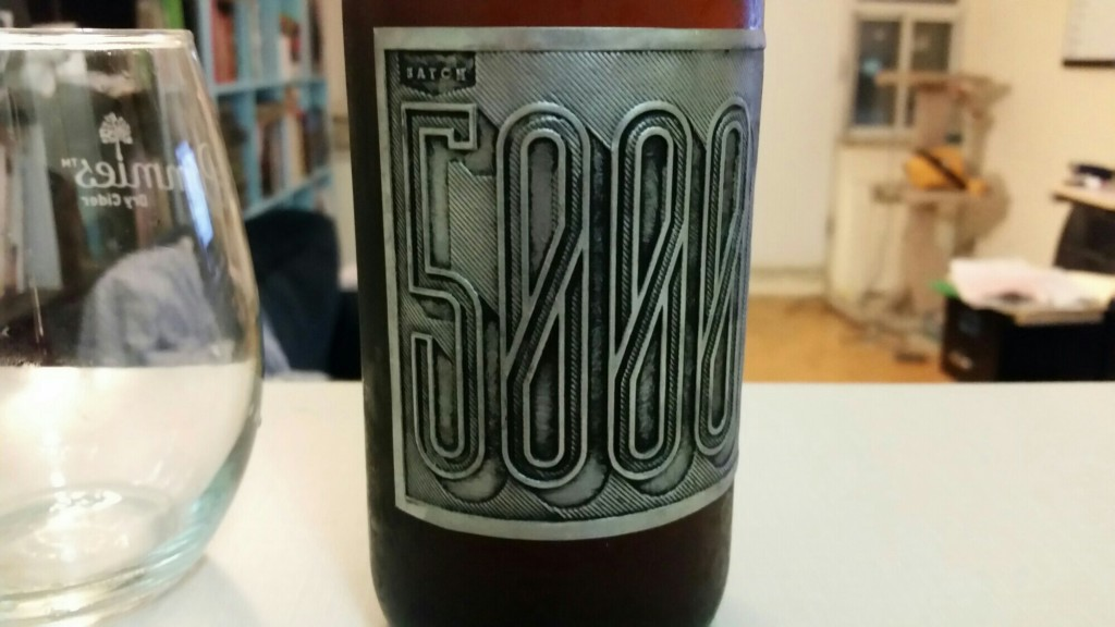 I'm not kidding. Coolest looking label in the province's history. I don't keep labels, but I might keep this one.
