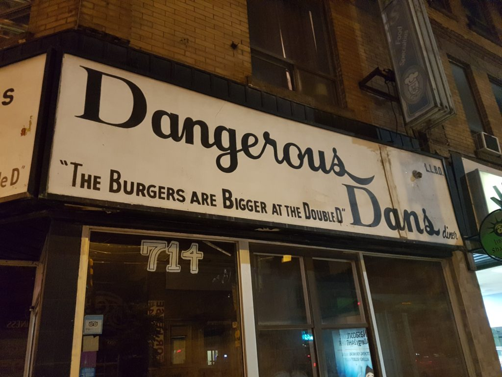 """Dangerous Dan met his match one day when the condo developers came to play. They didn't bring pistols or axes or knives, they only brought promises of better lives."" - The Ballad of Dangerous Dan's."